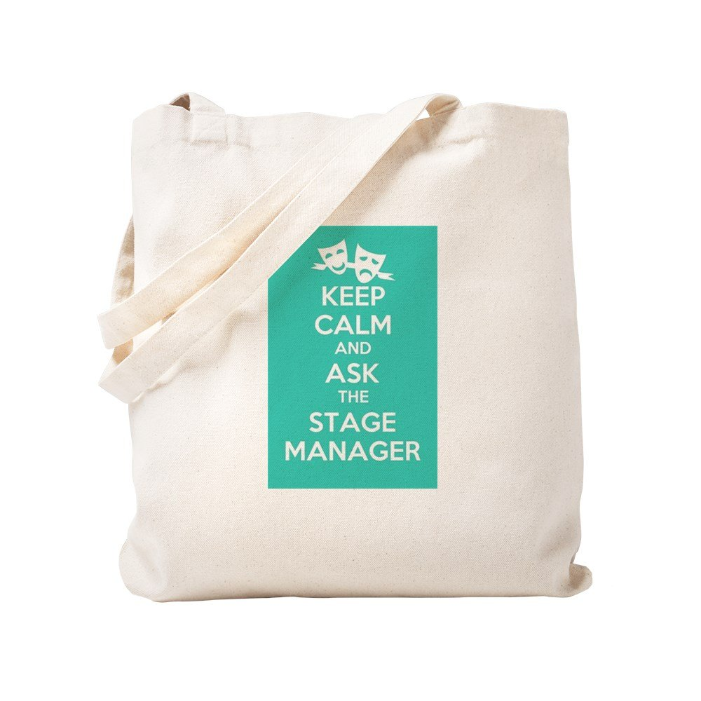 CafePress – Keep Calm & Ask the Stage Manager – ナチュラルキャンバストートバッグ、布ショッピングバッグ S ベージュ 1332313757DECC2 B0773TVXBL S