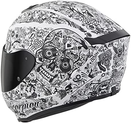 More Size Options Scorpion EXO-R420 Full-Face Helmet Shake Cement Grey Large