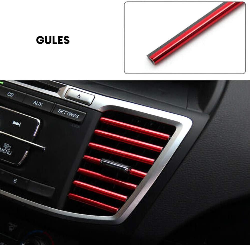 BonTime U-Form Auto Klimaanlage Luftauslass Zierstreifen Clip Streifenleiste Schutzfolie Abdeckung