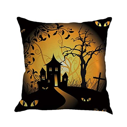 Amazon Gotd Vintage Halloween Pillow Covers Decorations Throw Cool Halloween Pillows Decorations