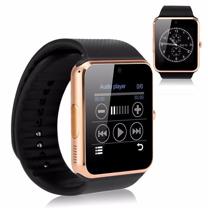 Mobiper® Smart Watch facebook whatsapp Reloj Inteligente Bluetooth Pantalla táctil /Soporta llamada Mensaje SIM para Smartphone Android Samsung HTC ...