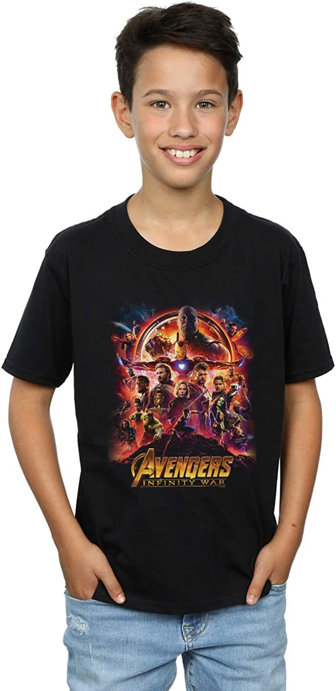 Marvel Niños Avengers Infinity War Movie Poster Camiseta: Amazon.es: Ropa y accesorios