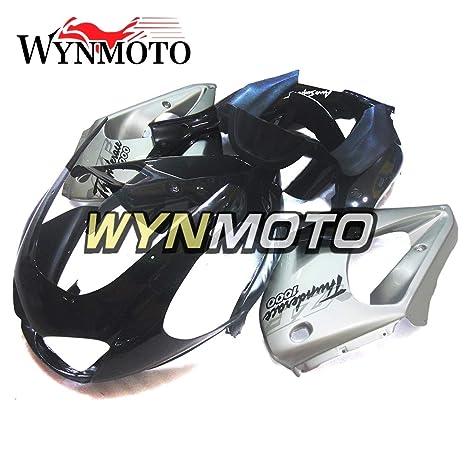 wynmoto plástico ABS plateado negro completa motocicleta embellecedores para Yamaha Yzf1000R Thunderace 1997 – 2007 cowlings