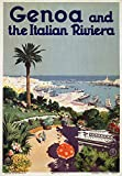 Genoa and the Italian Riviera Vintage Poster Italy c. 1931 (36x54 Giclee Gallery Print, Wall Decor Travel Poster)