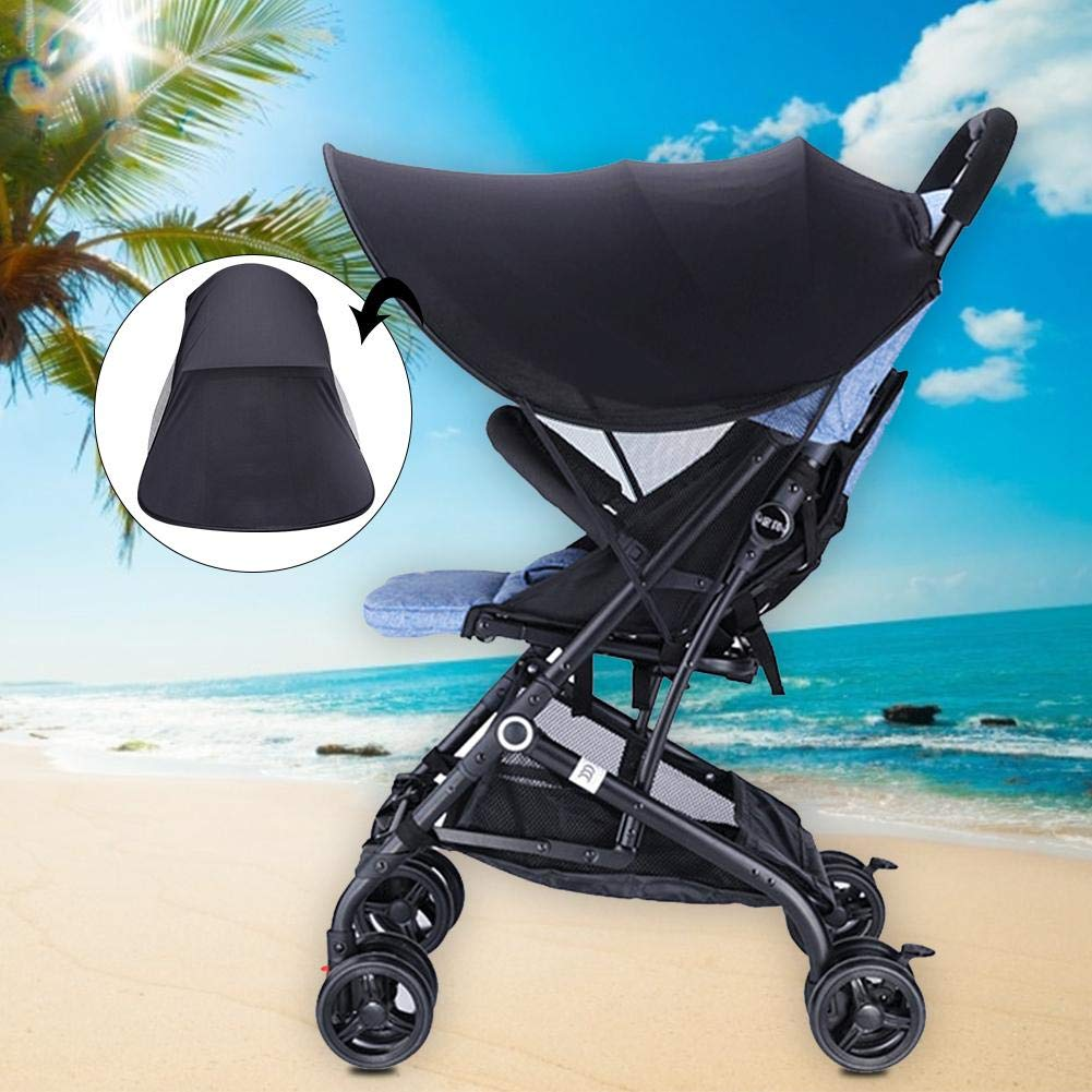Removable Universal Awning For Baby Carrier Infant Pram Black greatdaily Stroller Sun Shade Canopy Anti-UV