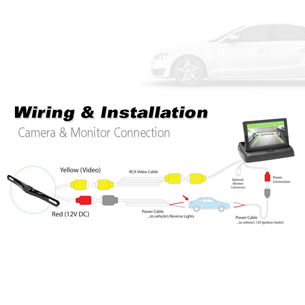 plcm7200 wiring diagram plcm7200 image wiring diagram amazon com pyle plcm4500 rearview backup camera monitor system on plcm7200 wiring diagram