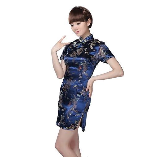 Bargain House Dragon Phoenix vestido chino vestido de manga ...