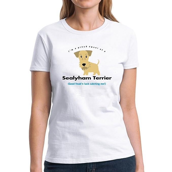 Im A Proud Owner Of Sealyham Terrier Good Luck Catching Me Women T