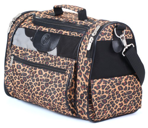 Sherpa Cat Tote Pet Carrier,  Leopard Print Leopard Print Pet Carrier