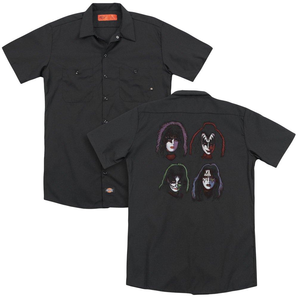 Kiss Solo Heads Adult Work Shirt