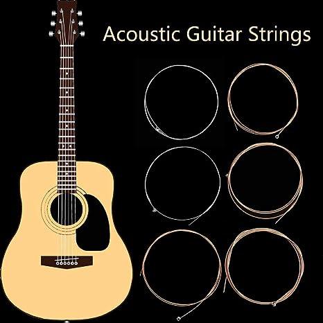 Juego de 6 cuerdas para guitarra acústica, 50 unidades, color ...
