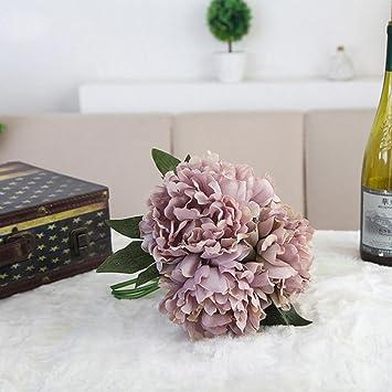 Friendgg 1 Bundel Pfingstrose Blumen Halten Kunstliche Blume