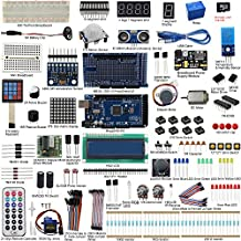 UCTRONICS Mega 2560 Complete Ultimate Starter Kit for Arduino w/TUTORIAL in TF Card, MEGA 2560 Development Board, LCD1602, Servo, Stepper Motor, Joystick, 21 keys Remote Controller, PIR Motion Sensor