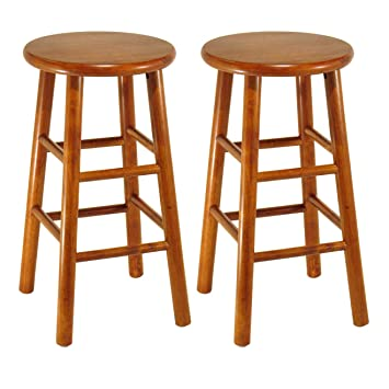 Strange Winsome Wood Tabby Stool 24 Inch Cherry Gamerscity Chair Design For Home Gamerscityorg