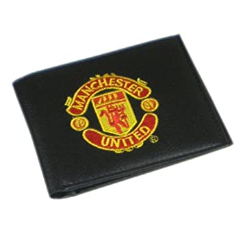 782757d28dd Manchester United Unisex s Crest Embroidered PU Leather Wallet ...