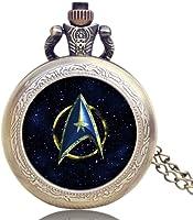 Star Trek Pocket Watch, StarTrek Pendant for Fans Men Women, Gifts Watches for Boys Girls