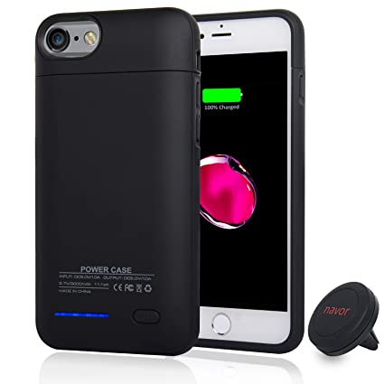 Amazon.com: NAVOR iPhone 7 – Batería Caso, 4200 mAh Ultra ...