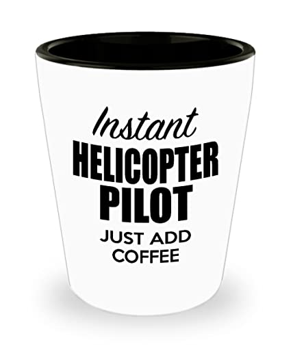 Helicopter Pilot Shot Glass - Funny Helicopter Pilot Gift Ideas for Birthday, Valentines Day,