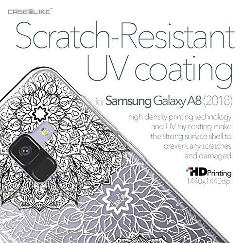 CASEiLIKE Funda Samsung Note 8 , Carcasa Samsung Galaxy Note 8, Graffiti 2703, TPU Gel silicone protectora cover Arte de la mandala 2093