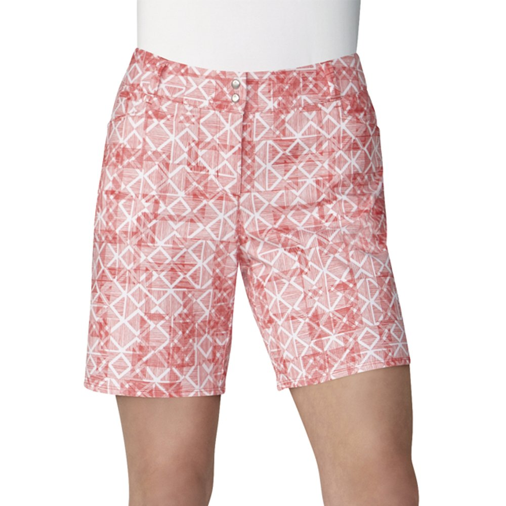 adidas Golf Women's Essentials Printed 7'' Short, Real Coral, Size 6 by adidas