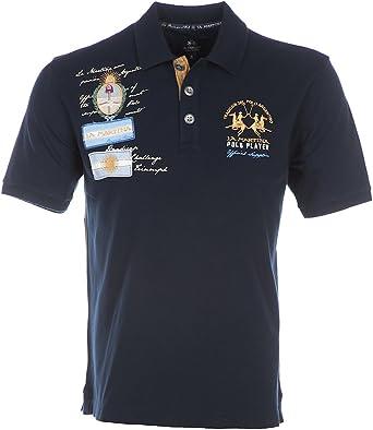 La Martina – Polo Ofir azul marino para hombre azul XXXL: Amazon ...