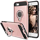 Vofolen Case for iPhone 6S Case iPhone 6 Case Kickstand Ring Holder Clip Stand Holster Hybrid Tough Heavy Duty Armor Dual Layer Protective Hard Shell Rugged TPU Bumper Cover for iPhone 6 6S Rose Gold
