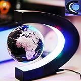 HONEWIN C Shape Decoration Magnetic Levitation Floating Globe World Map