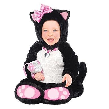 Amscan 997542 Itty Bitty Kitty Costume - Itty Bitty Kitty - Size - 6-12  sc 1 st  Amazon UK & Infants Itty Bitty Kitty New Childrens Baby Cat Fancy Dress Onesie ...
