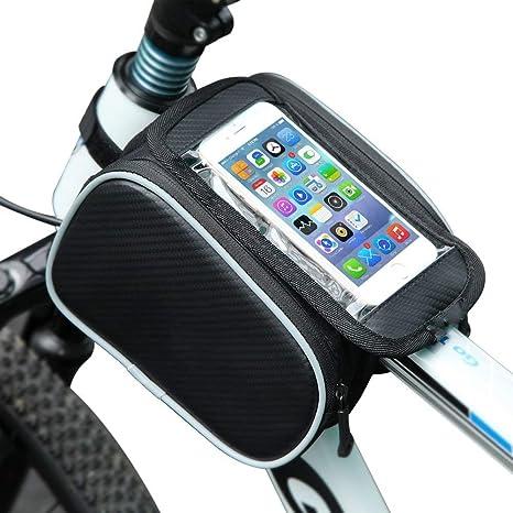 Tomicci - Bolsa Frontal para Bicicleta de montaña, Soporte para ...
