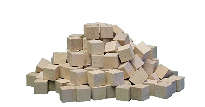 150 Stück  NEU Holzwürfel Spielwürfel Holzsteine Bauklötze Würfel Buche 30 mm