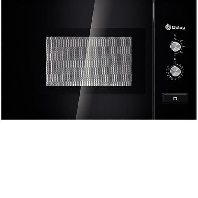 Balay 3WM360NIC Integrado 20L 800W Negro - Microondas (Integrado, 20 L, 800 W, Giratorio, Negro, Botón)