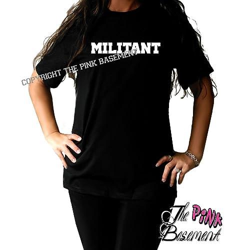 Amazon com: HANDMADE Militant Military Adult T shirt Unisex Gym