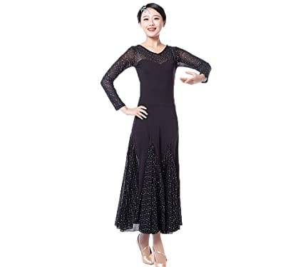 e75882d4b3ca BellyQueen Waltz Ballroom Dance Dress - Dancing Modern Gauze Smooth Tango  Party Latin Swing Competition Dancewear