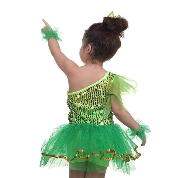 MATISSA Trajes de Baile de Lentejuelas para niños Vestidos de Ballet Faldas  Ropa de Baile Niños Niñas 3-15 años  Amazon.es  Deportes y aire libre 313a624e95a