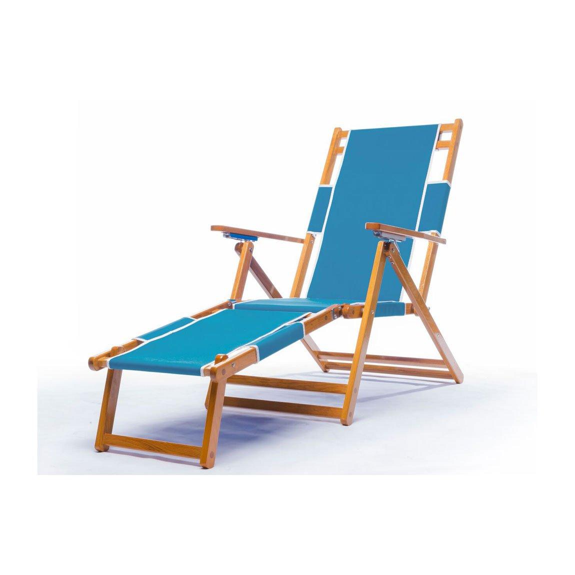 Heavy Duty商用グレードオークウッドビーチ椅子/ Chaise Lounger B00WC91YFW No Drink Holder / Add Foot Rest|カプリ カプリ No Drink Holder / Add Foot Rest