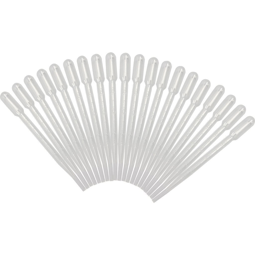 OPPOHERE Plastic Transfer Pipettes 0.2ml, Gradulated, Pack of 100