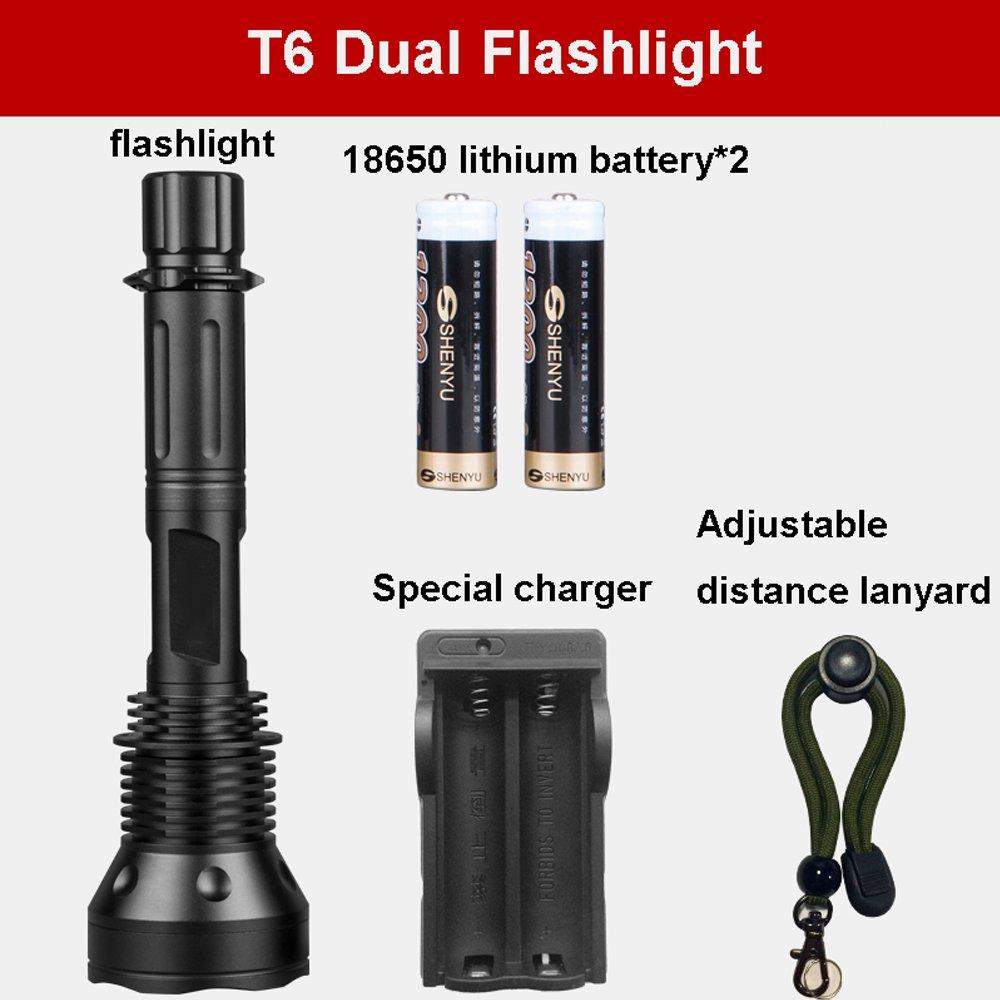 GLJJQMY LED entfernbarer Taschenlampen-Wieder aufladbarer im Freien wasserdichter Searchlight Taschenlampe