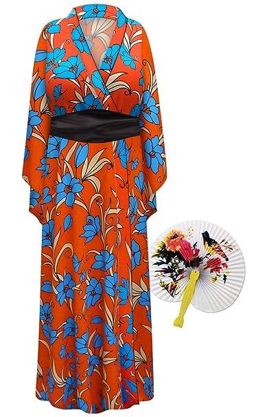 Amazon.com: Fire & Ice Floral Geisha bata Plus tamaño ...