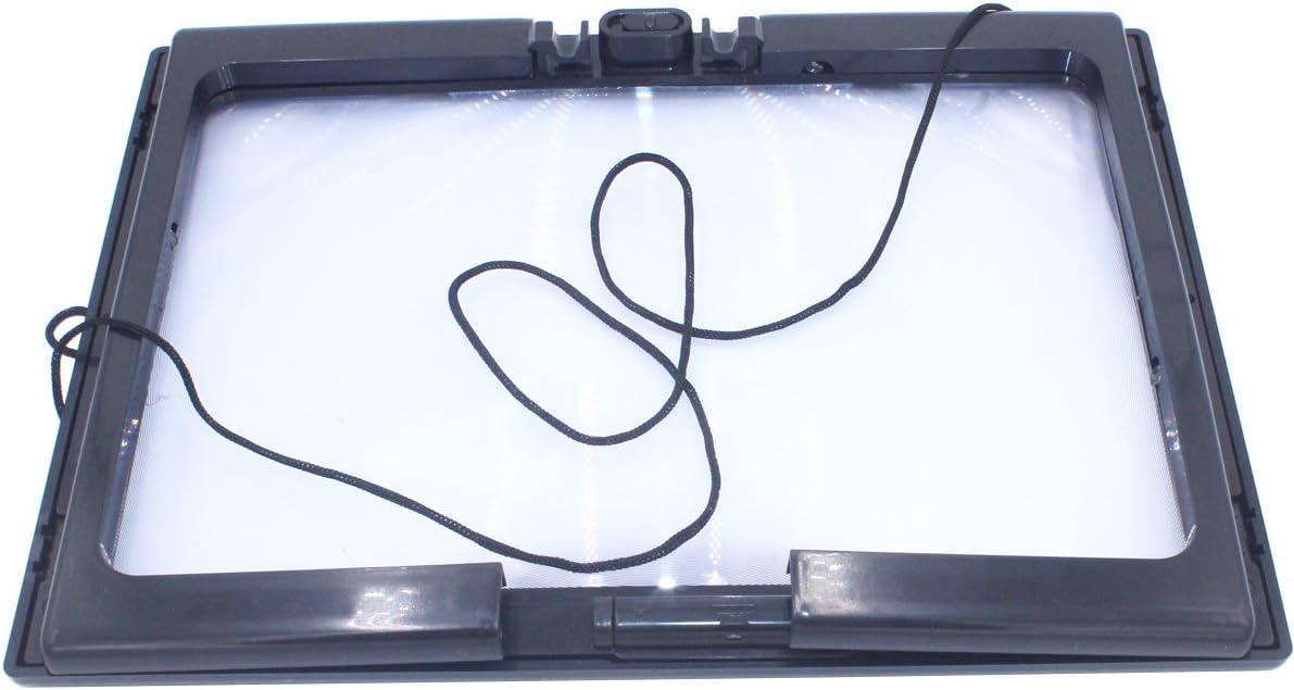 Niupika Lente D/'ingrandimento 3X con 4 Luci LED MANI LIBERE rettangolare di grandi dimensioni pagina completa ma