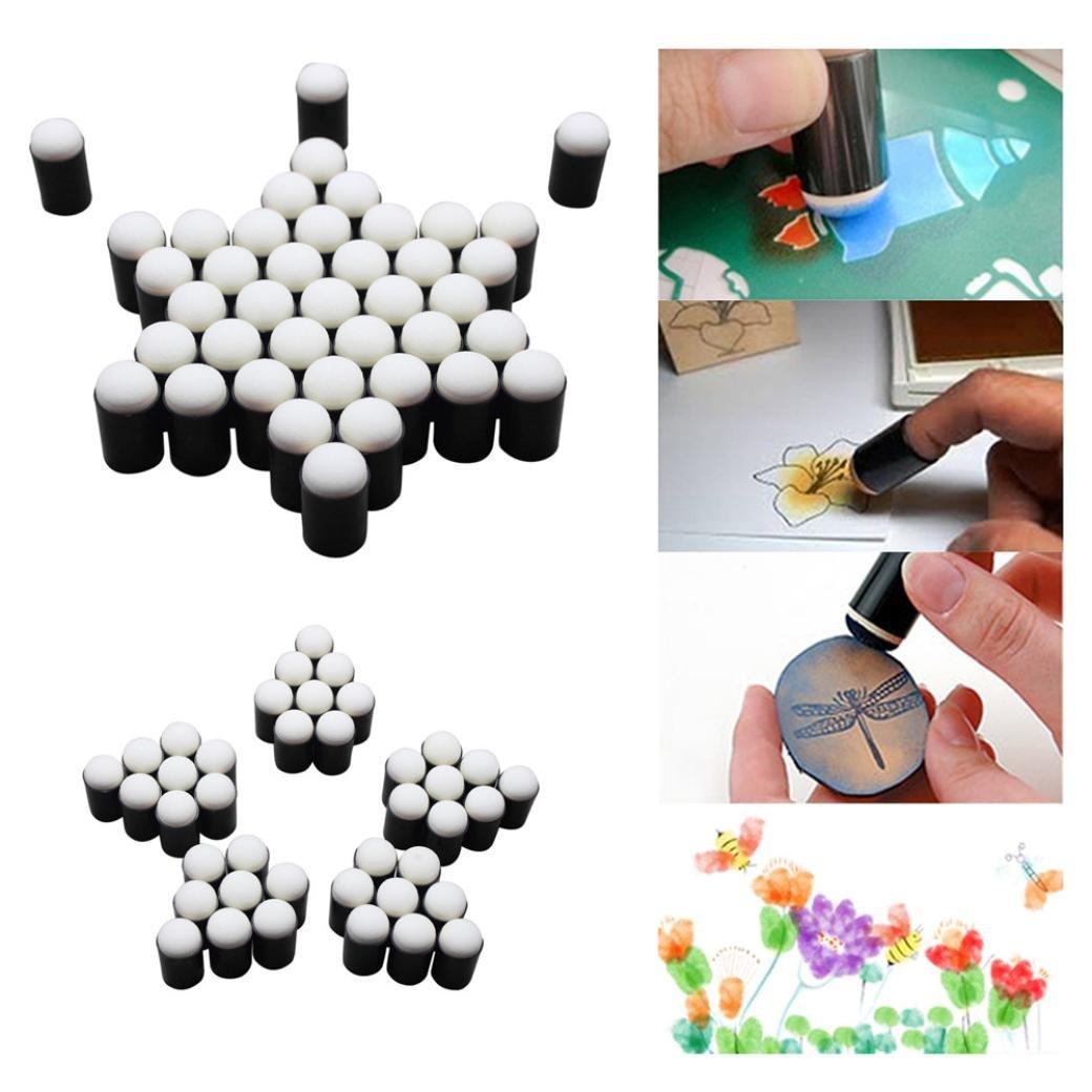 10 Finger Sponge Daubers Set for Painting Drawing Ink Crafts Chalk -KingWo