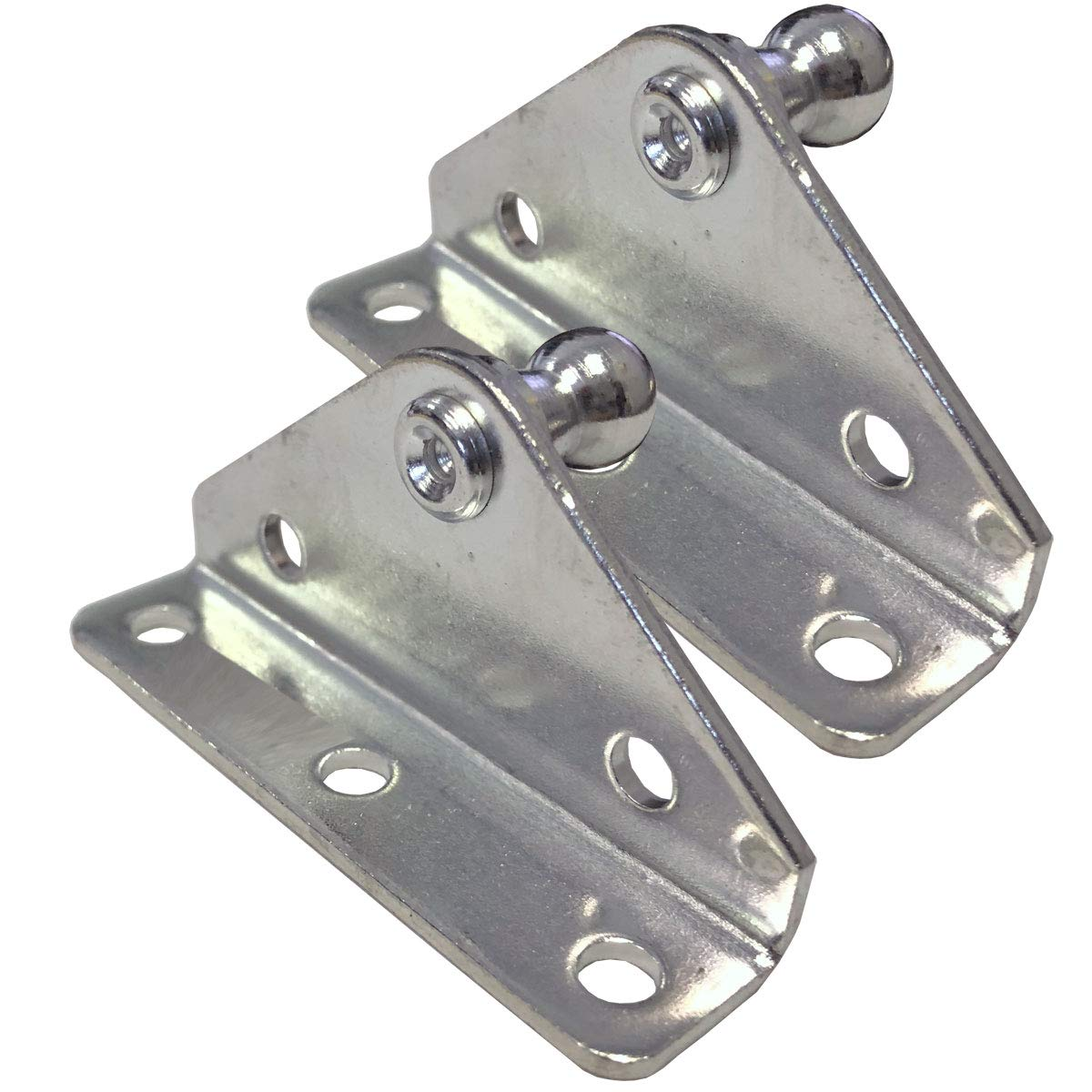 PerfectScore 10MM Ball Stud Angled Lift Support Bracket - Zinc Plated 10 Gauge Steel – Lift Support Bracket for Gas Spring/Prop/Strut - Pack of 2 Gordon Glass Co.