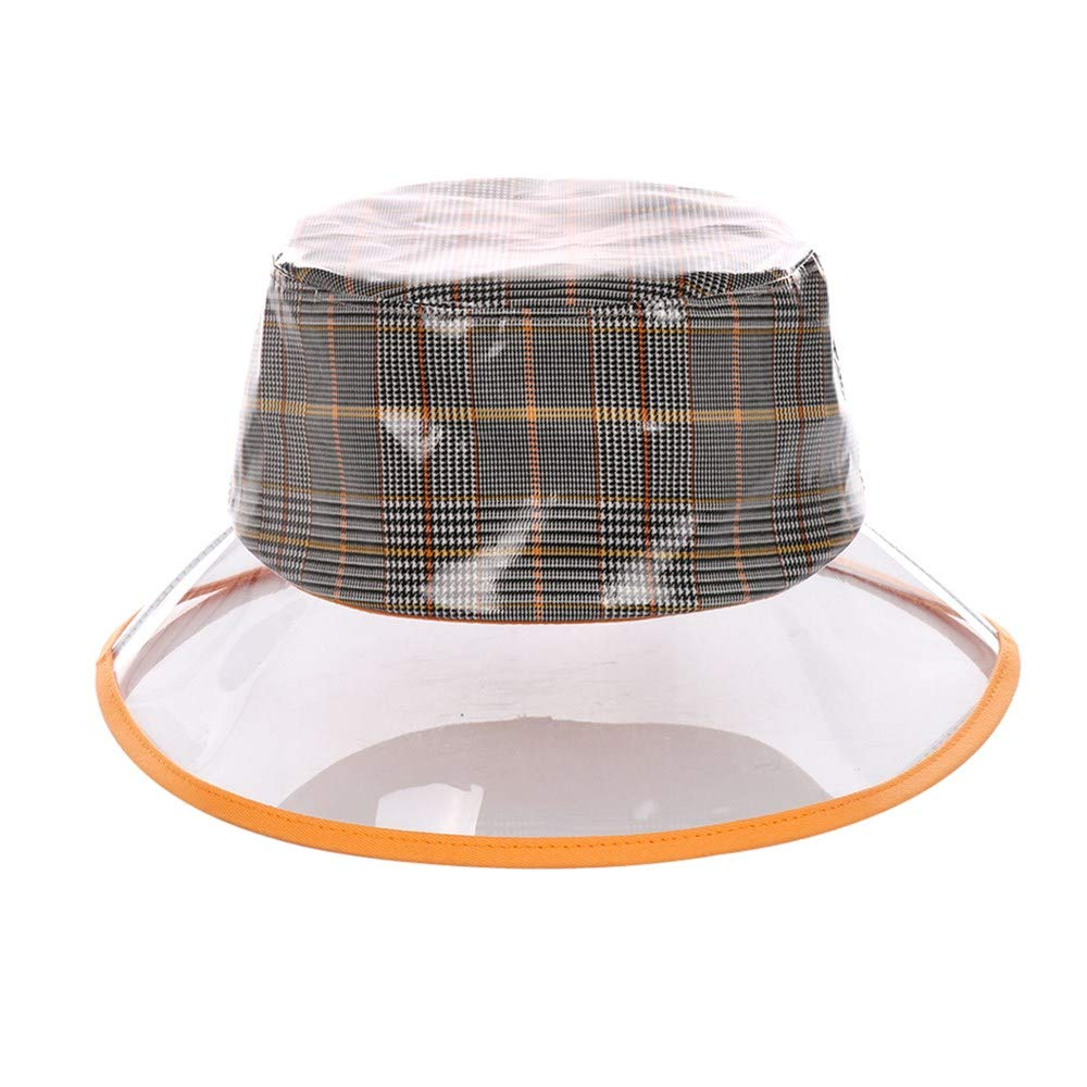 Orange PVC Bucket Hat Vinyl Rain Hat Haymarket