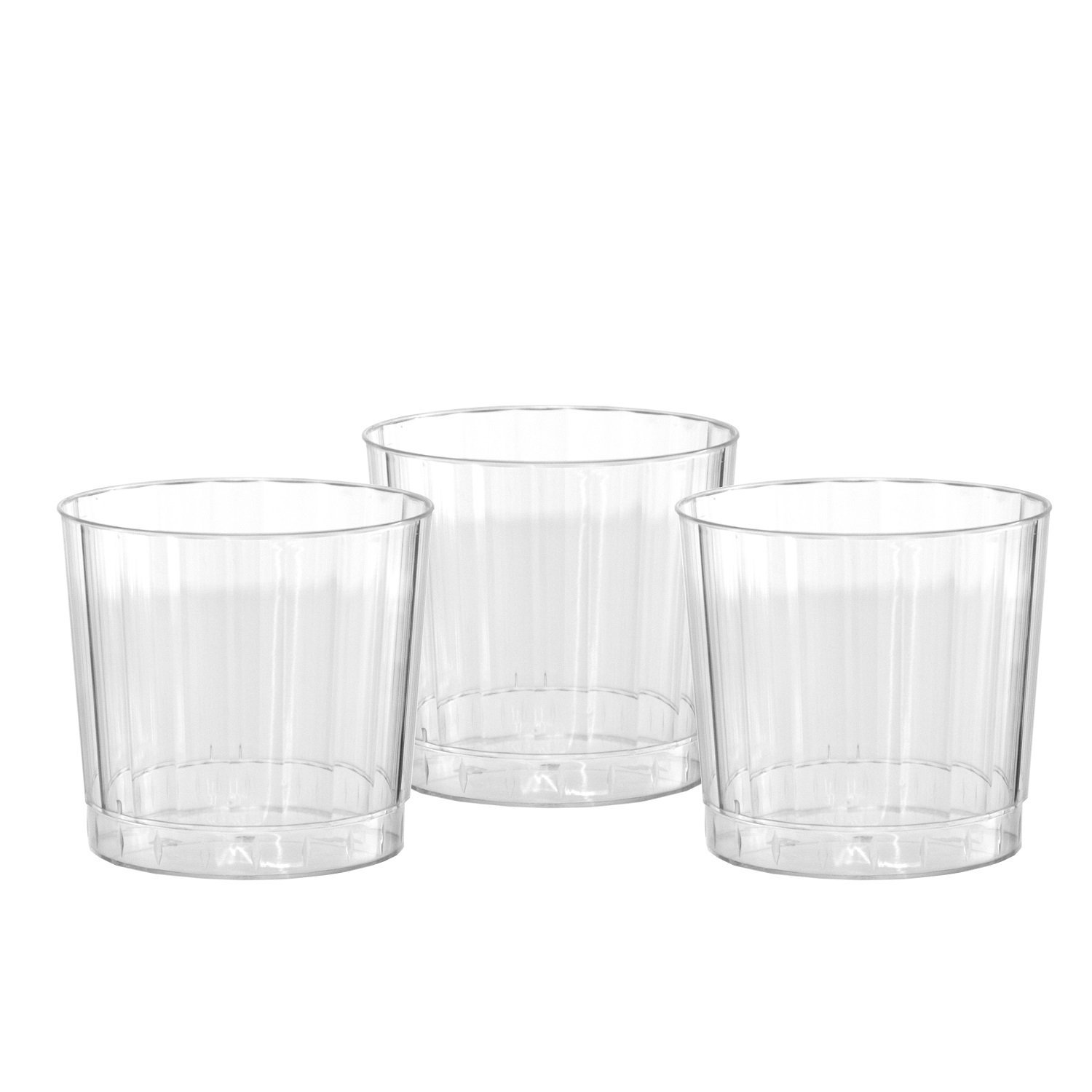 Party Essentials Deluxe/Elegance Hard Plastic 9-Ounce Party Cups/Old Fashioned Tumblers, 40-Count, Clear