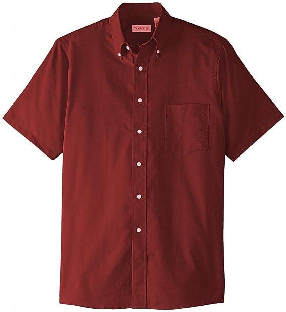 a7d4bb2e Van Heusen Mens Regular-fit Oxford Short-Sleeve Button Down-Collar Dress  Shirt