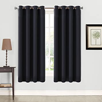 Living Room Curtains amazon living room curtains : Amazon.com: Blackout Curtains 2 Panels Thermal Insulated Grommets ...