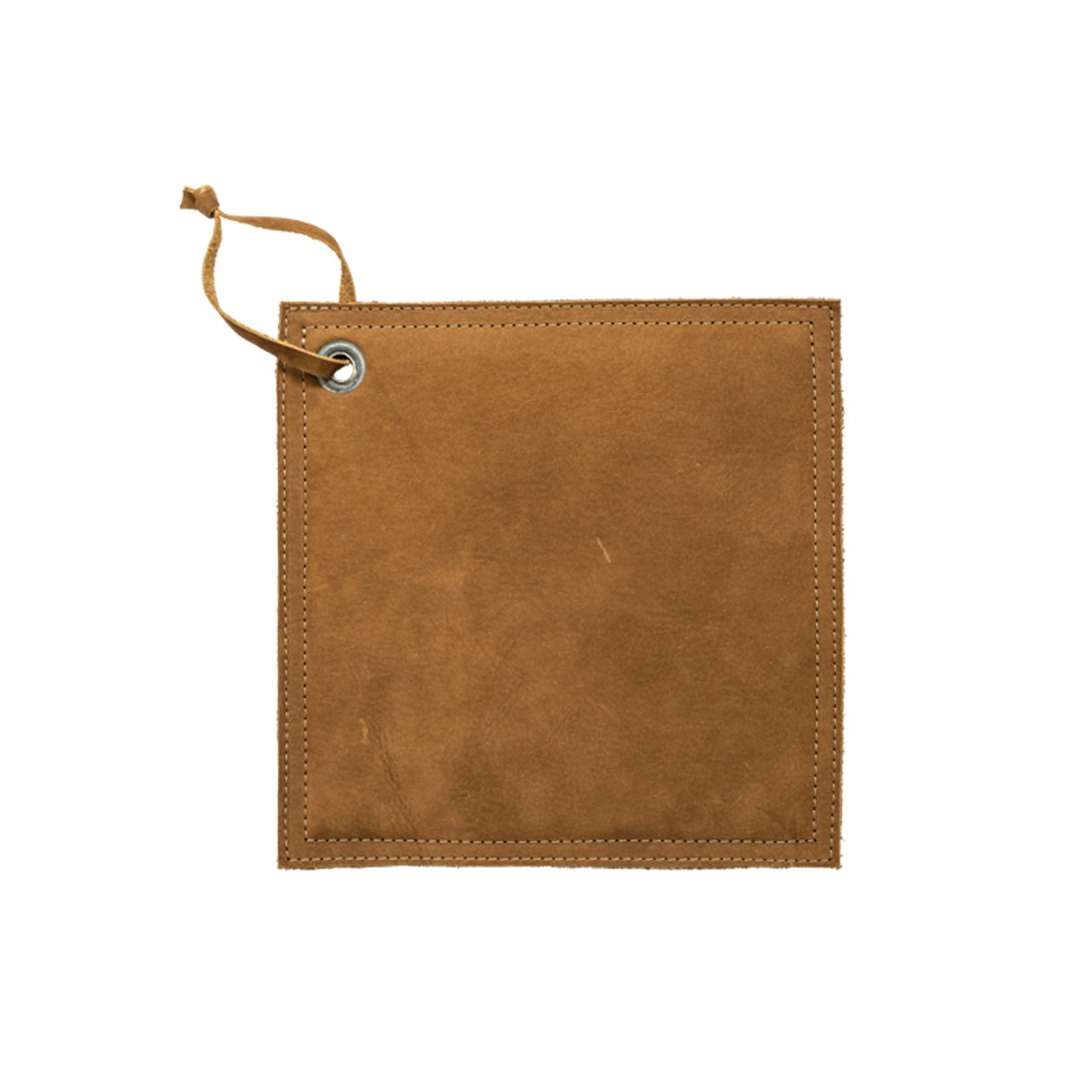 Hide & Drink Leather Hot Pot Pad (Potholder), Double Layered, Double Stitched and Handmade Swayze Suede by Hide & Drink