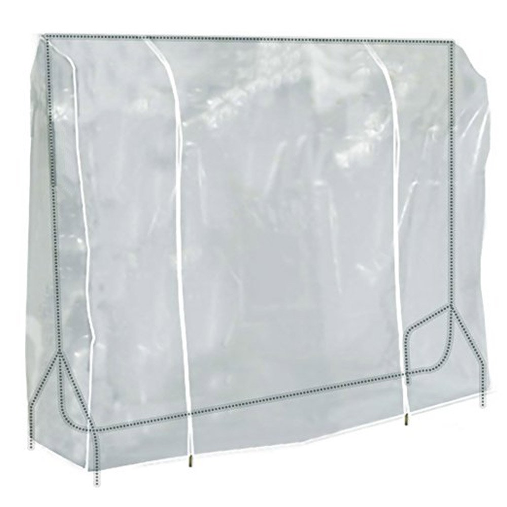 TzBBL Clothes Garment Rack Cover 6 Ft with Strong Zipper Protective Rail Cover 71'' X 20'' X 52'' (180 X 50 X 133 cm)