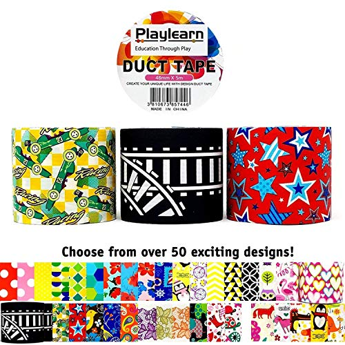 Design Duct Tape 48mm x 16 Feet - Kids Fun Extra Strong Prin