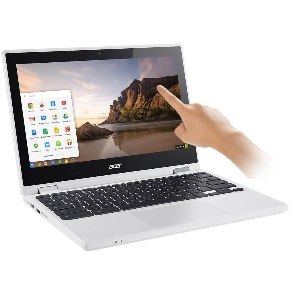2017 Newest Acer Premium R11 11.6'' Convertible 2-in-1 HD IPS Touchscreen Chromebook - Intel Quad-Core Celeron N3160 1.6GHz, 4GB RAM, 32GB eMMC, Bluetooth, HD Webcam, HDMI, USB 3.0, Chrome OS - White