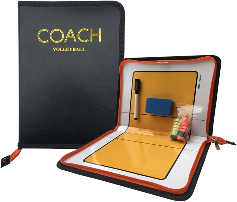 Firelong Volleyball Coach Tactic Board Strategy Training Aids Equipment - Zipper Closure : Sports & Outdoors